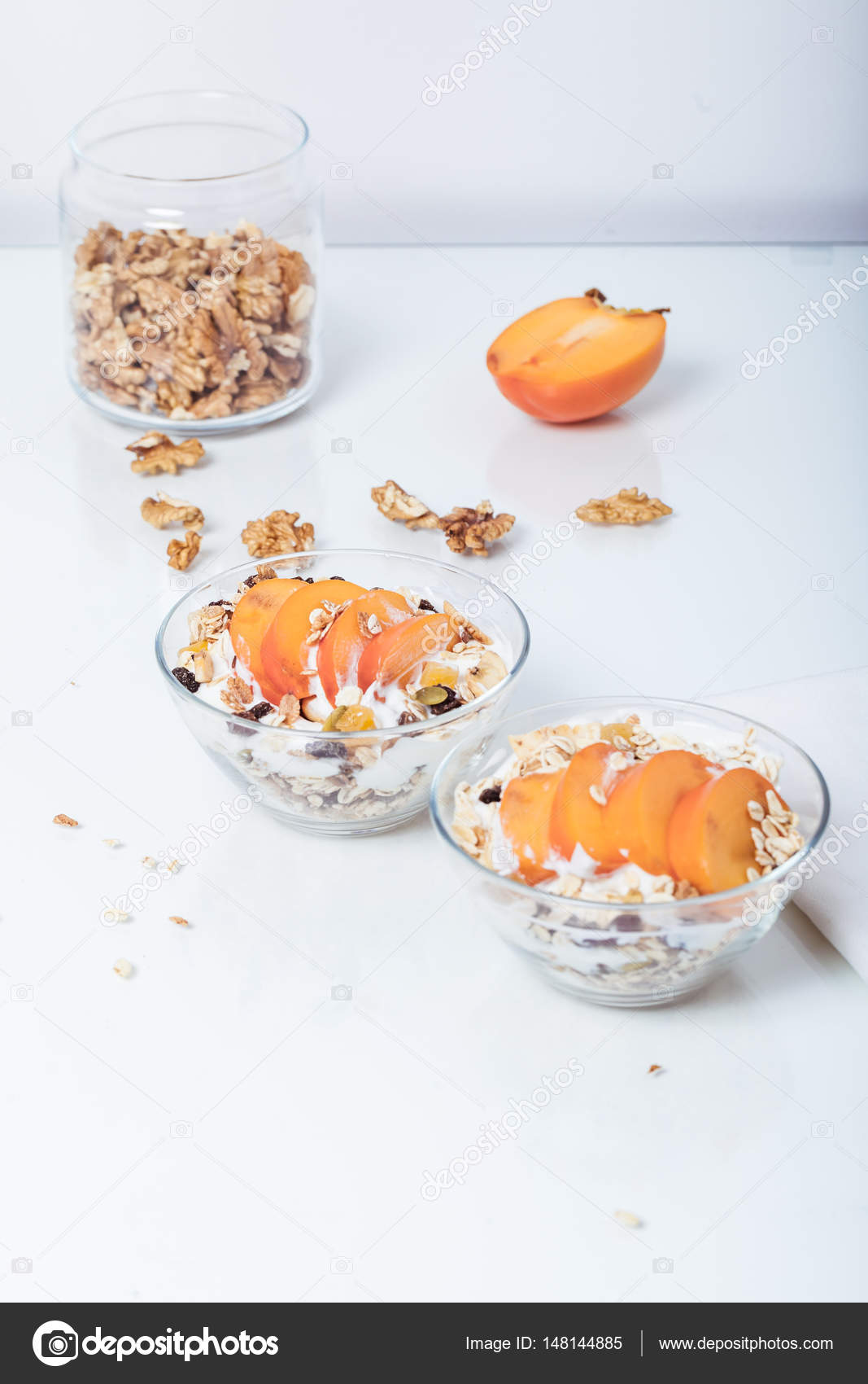 Homemade granola with soy yogurt stock photo creativephotocorner homemade vegan granola cereal with soy yogurt walnuts blueberry and almond milk photo by creativephotocorner ccuart Image collections