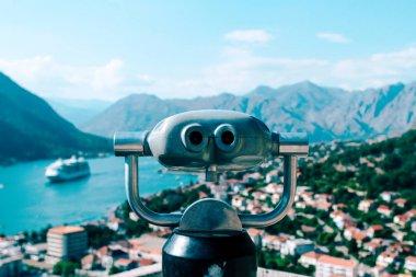 Observation binoculars looking Bay