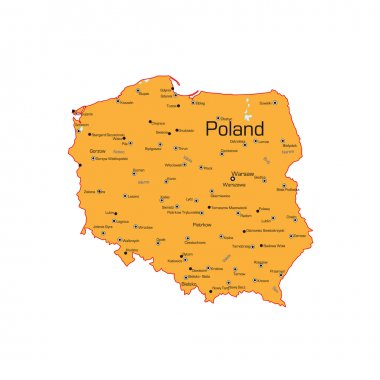 The Republic of Poland map