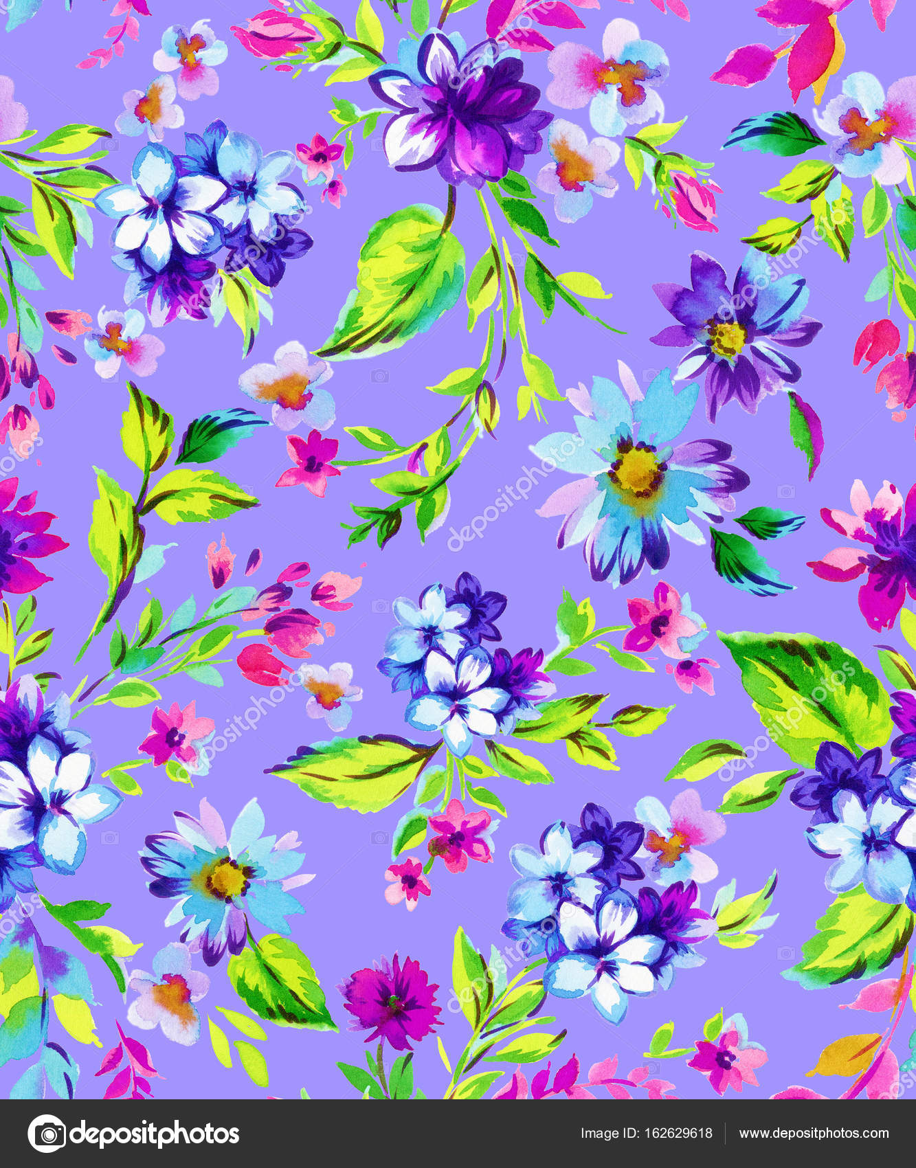 Small ditsy flowers watercolor pattern for fashion wrapping paper small ditsy flowers watercolor pattern for fashion wrapping paper stock photo mightylinksfo