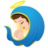 Fotografie Abbildung der Heiligen Jungfrau Maria beten, Philosophie Religion. Ideal für institutionelle und religiöse Materialien