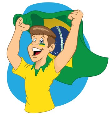 Man Brazilian fans vibrating