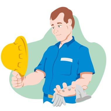 functionary holding safety equipment