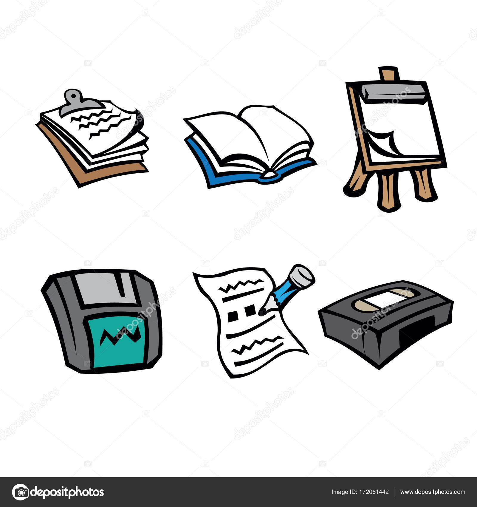 Piktogramm Symbol Bürobedarf Zwischenablage Buch Flipchart