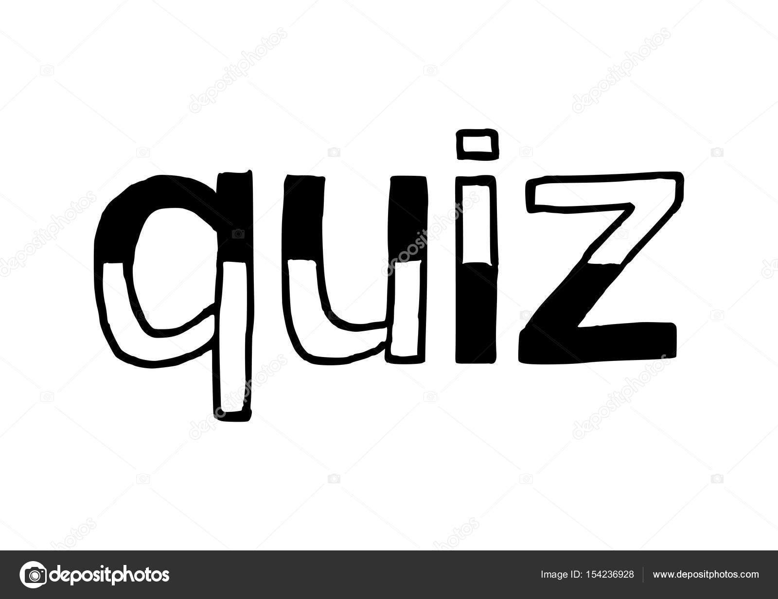 Quiz - isoliert handgezeichnete Schriftzug — Stockvektor © highflier ...