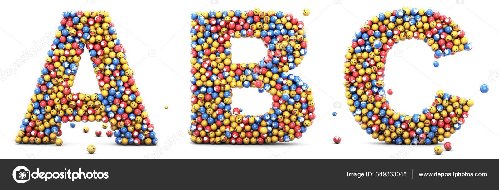 Emoji Reactions Letters Alphabet Emoticons Set Social Medias Social Networks Stock Photo C Wesleyyaya 349363048