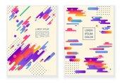 Abstraktní moderní kompozice pozadí s barevnými původní prvky. Vektorový obrázek