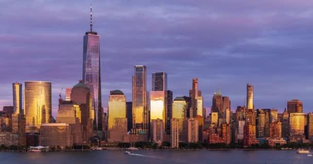 Kilátás Manhattan Skyline idő lejárta