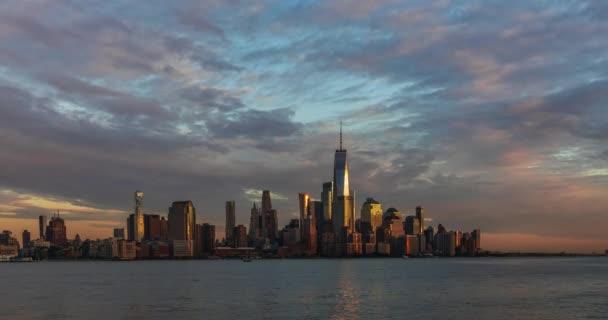 Pohled na časovou prodlevu panoramatu Manhattanu