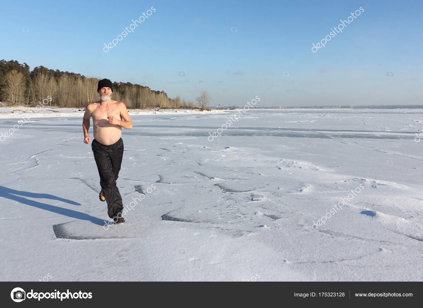 Really. running in the snow naked