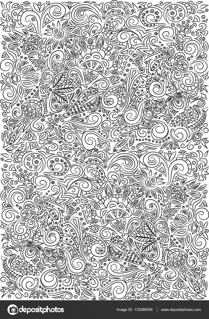- Zentangle Doodle Texture. Coloring Book For Adult — Stock Vector ©  Vitasunny #133086556