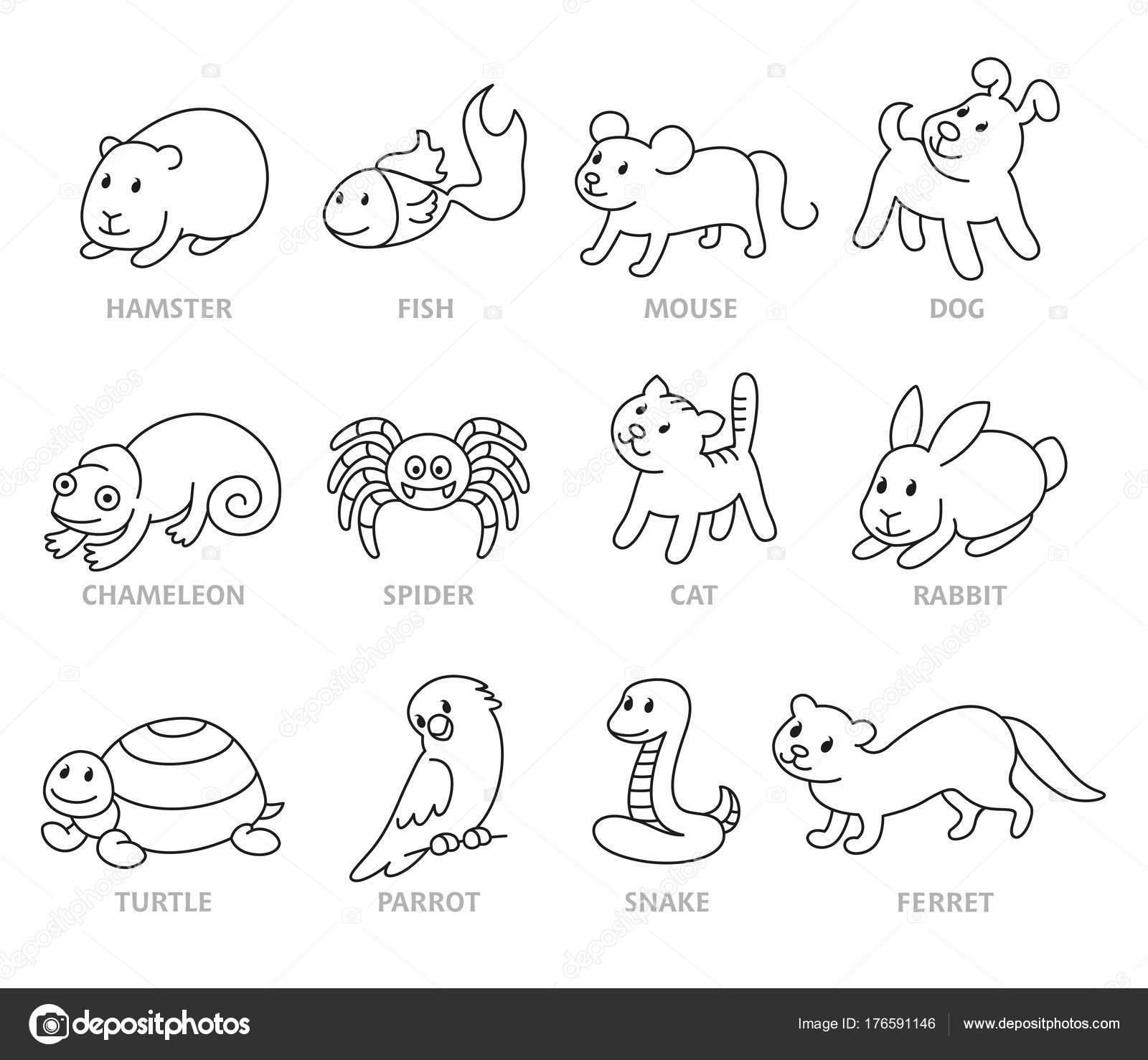 Imágenes Siluetas De Animales Domesticos Para Pintar