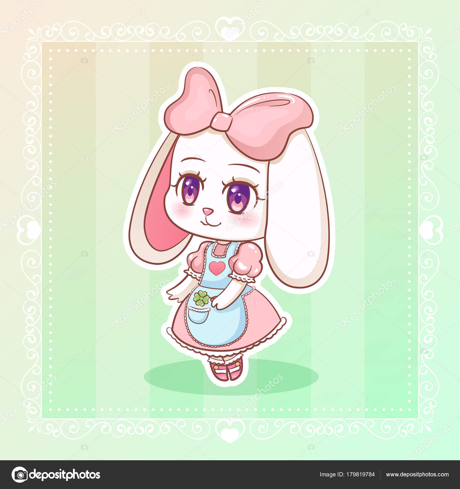 Kawaii Anime Girl Wallpaper Sweet Rabbit Little Cute