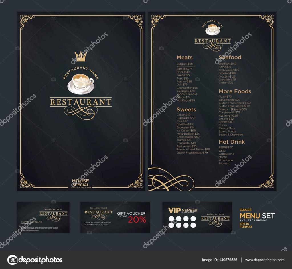 Disegno creativo menu set di schemi di progettazione del for Progettazione del layout del pavimento