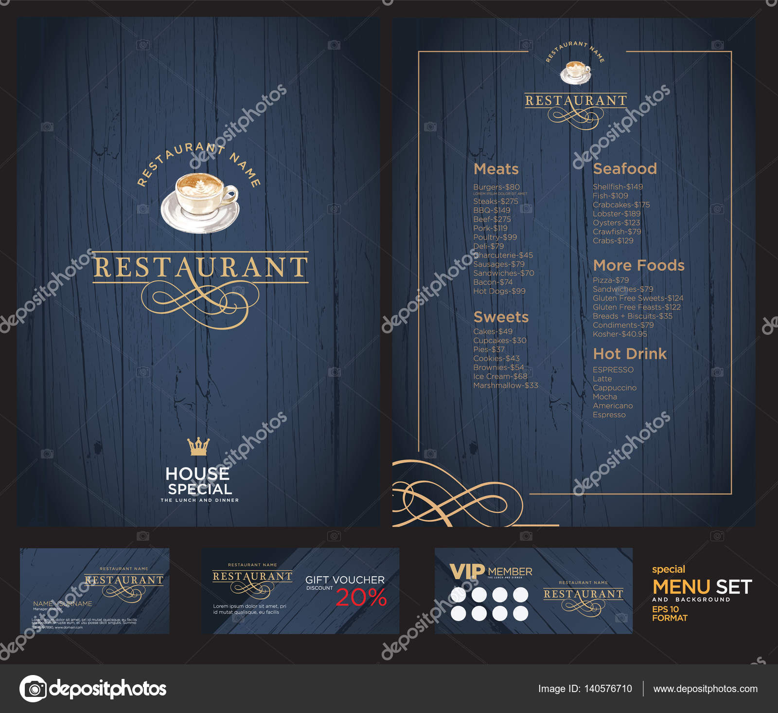 Creative Menu Design Layout Design Design Set For Menu Restaurant Stock Vector C Phaisarnwong 140576710