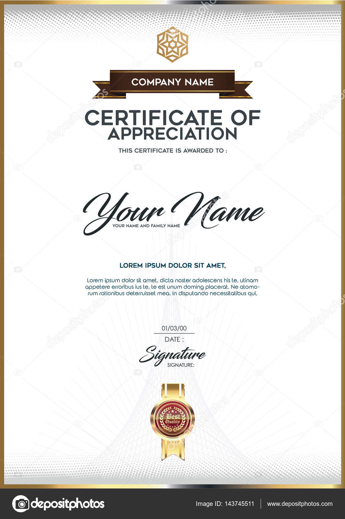 Vektor Luxus Zertifikatvorlage — Stockvektor © PhaisarnWong #143745511