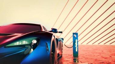 Electric power super car.