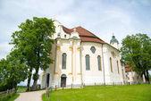 Fotografie Wallfahrt Kirche von Wies, Bayern, Deutschland