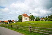 Fotografie Eine Wallfahrt Kirche von Wies, Bayern, Deutschland. UNESCO-Weltkulturerbe
