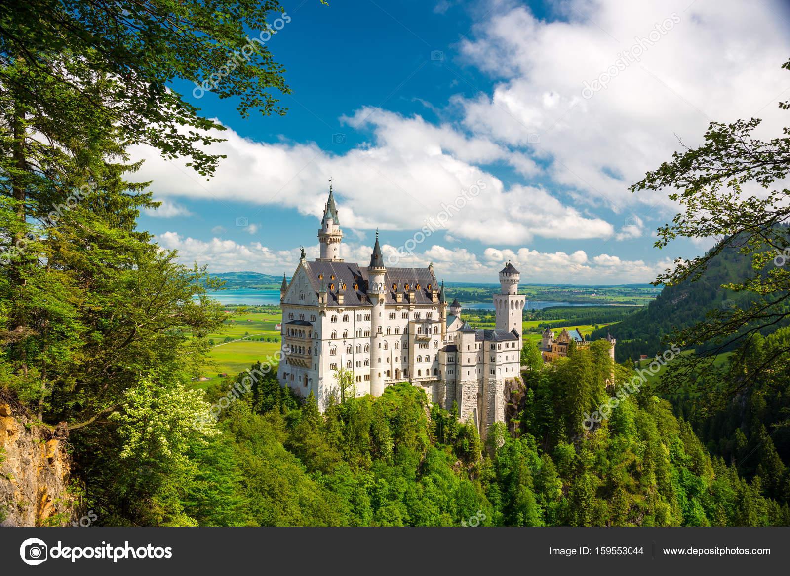 Neuschwanstein Landschaft Panorama Bild Von Der Märchen