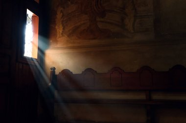 light falling through window