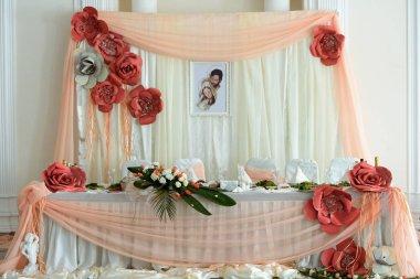 luxury decorated table centerpiece