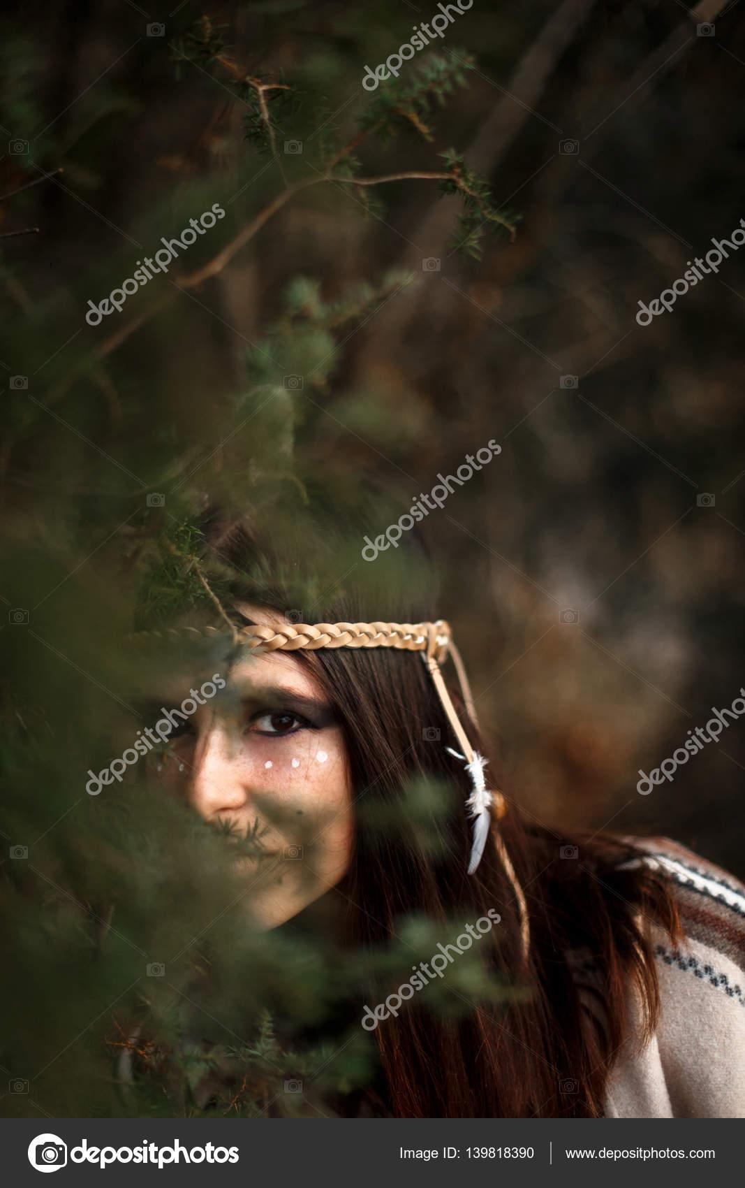 Donna americana indiana nativa foto stock sonyachny for Piani di progettazione domestica indiana con foto