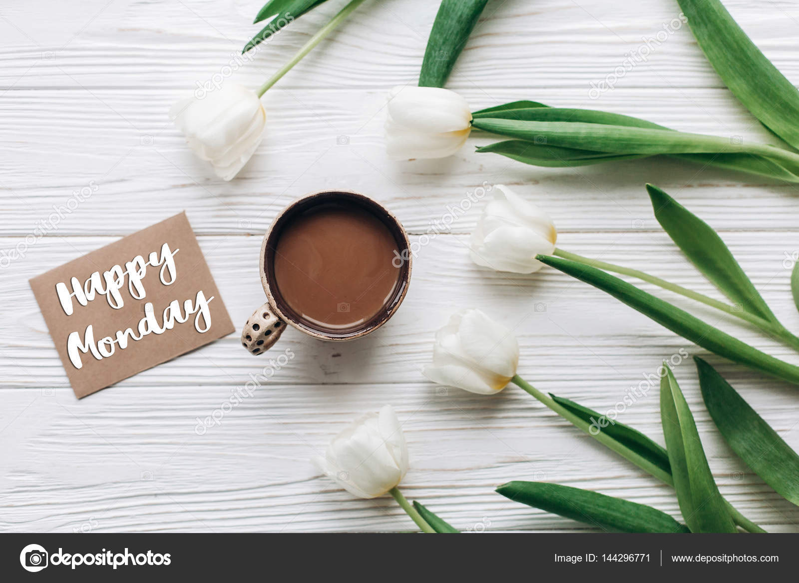 Happy monday text on greeting card stock photo sonyachny 144296771 happy monday text on greeting card stock photo m4hsunfo