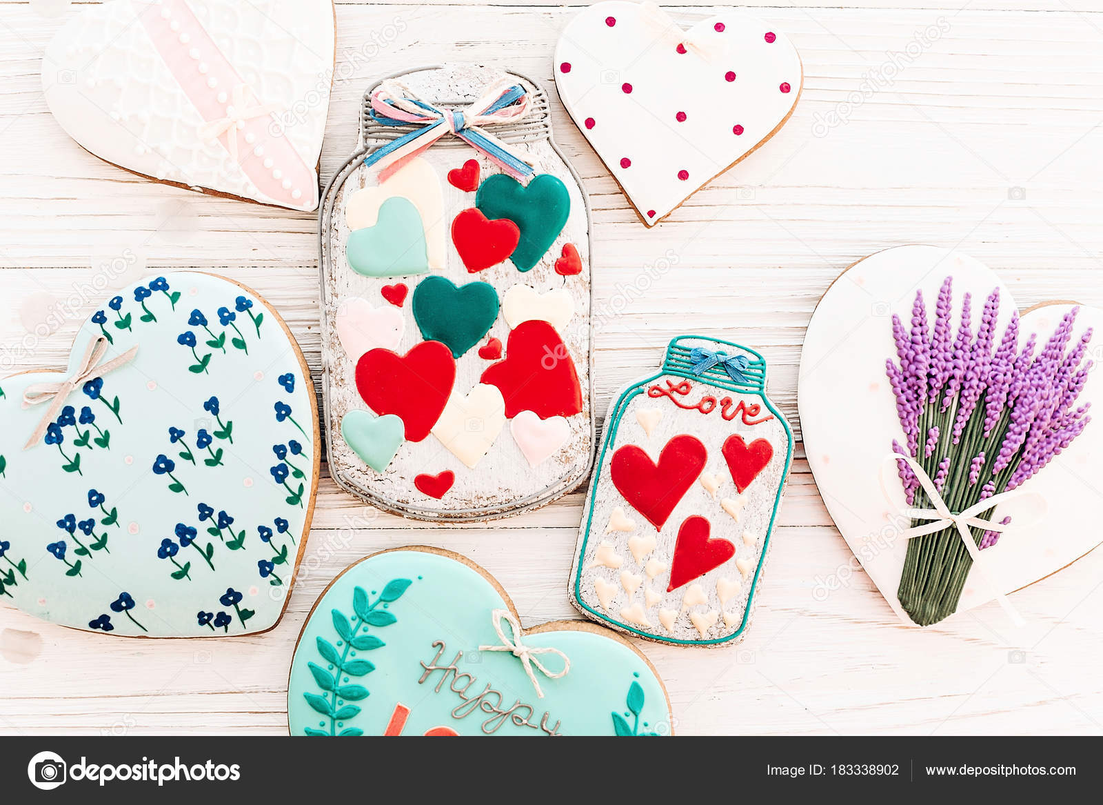 Happy valentine day greeting card jar colorful cookie hearts white happy valentine day greeting card jar colorful cookie hearts white stock photo kristyandbryce Choice Image