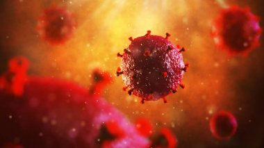 3d illustration of HIV virus. Medical concept
