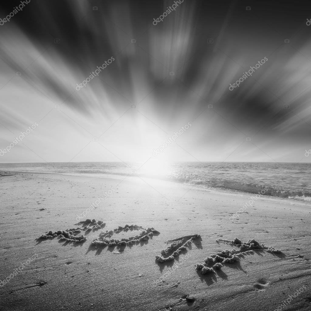 Immagini Mare Bianco E Nero 2017 Su Una Spiaggia Di Mare Bianco