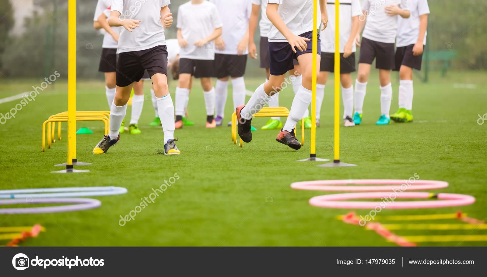 Fussball Fahigkeiten Trainingseinheit Spieler Training Auf