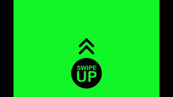 Swipe up icon isolated on green background for stories design.