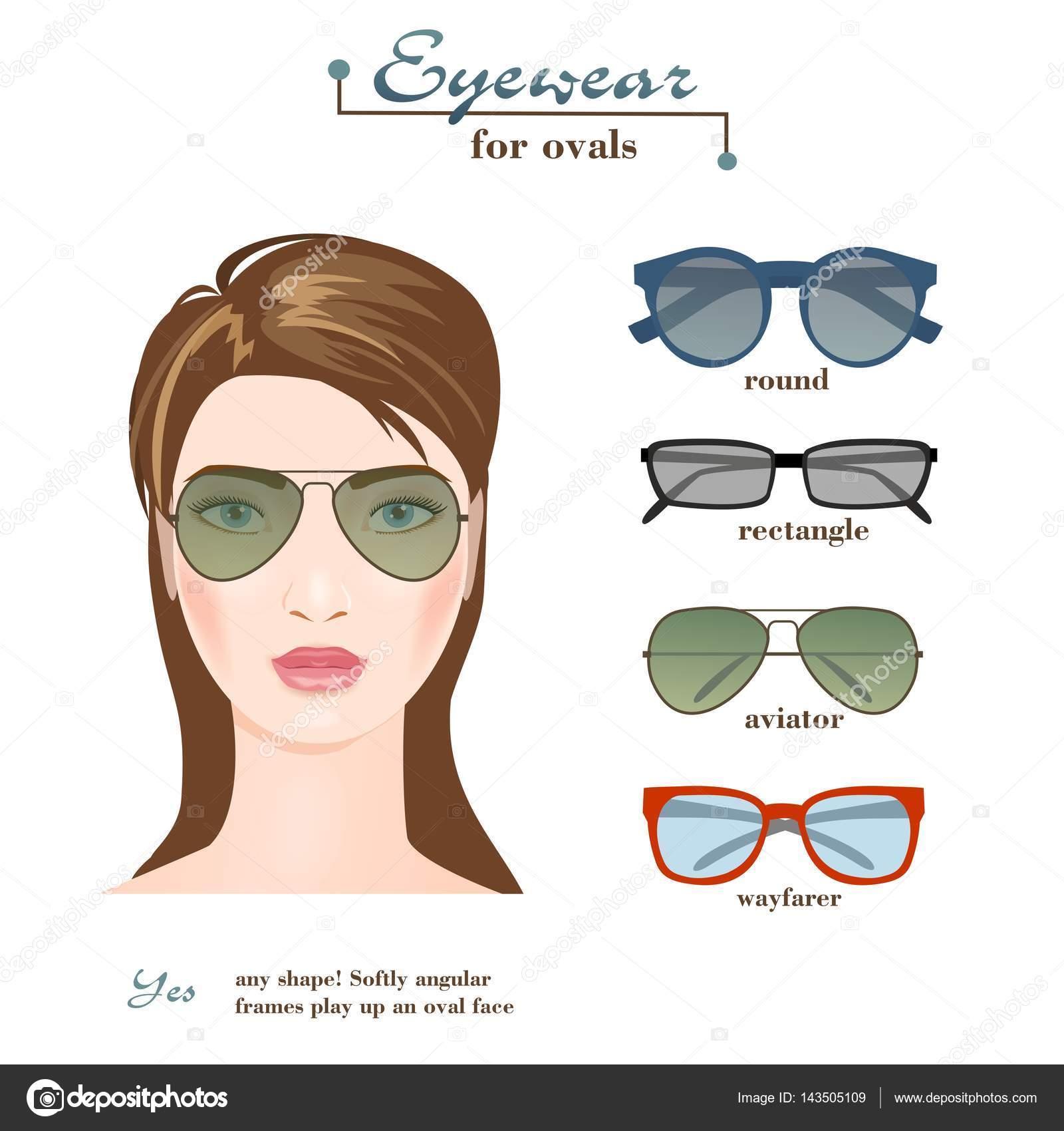 Gafas para mujer para óvalos — Archivo Imágenes Vectoriales ...