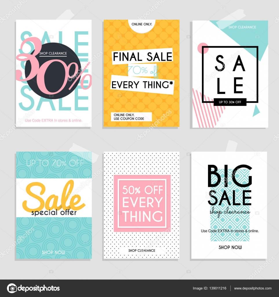 Sale website banners template — Stock Vector © Gapchuk_Olesia #139011216