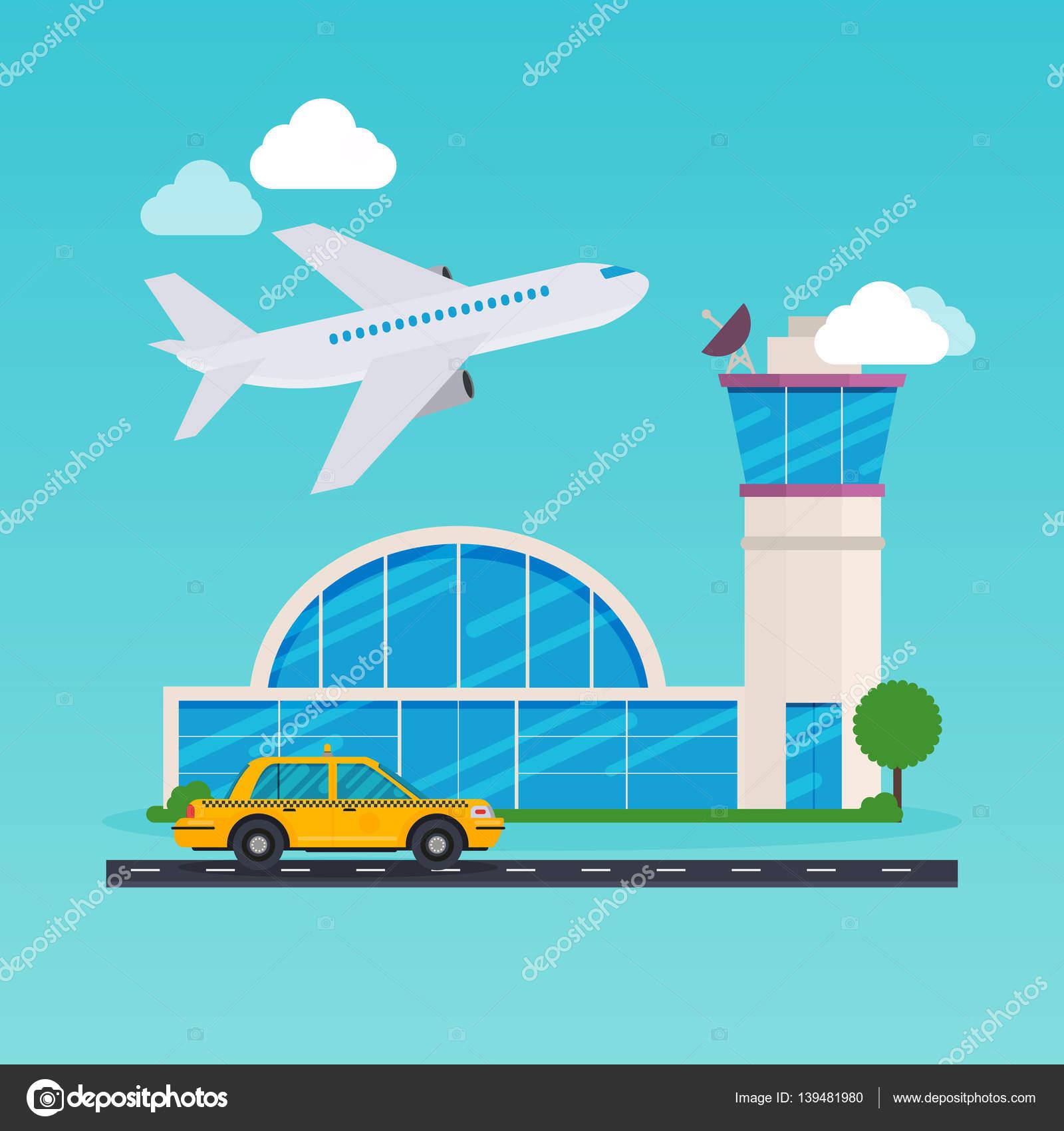 cute cartoon airport �... Airport Cartoon Images