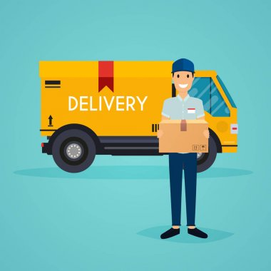 cute cartoon delivery