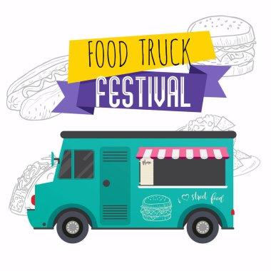 Food truck festival brochure