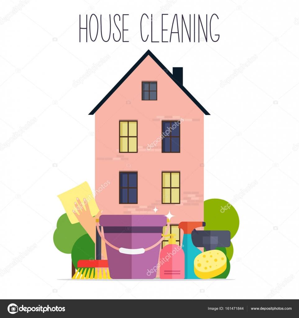 Cartel de limpieza de casa — Vector de stock © Gapchuk_Olesia #161471844
