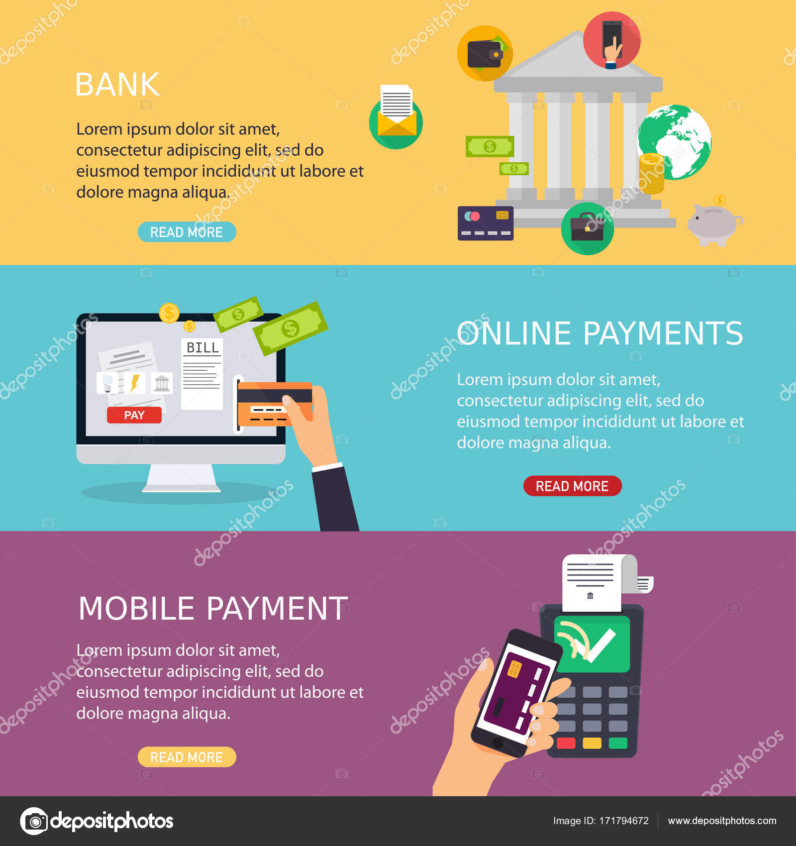 concepts of online payment methods — Stock Vector © Gapchuk_Olesia ...