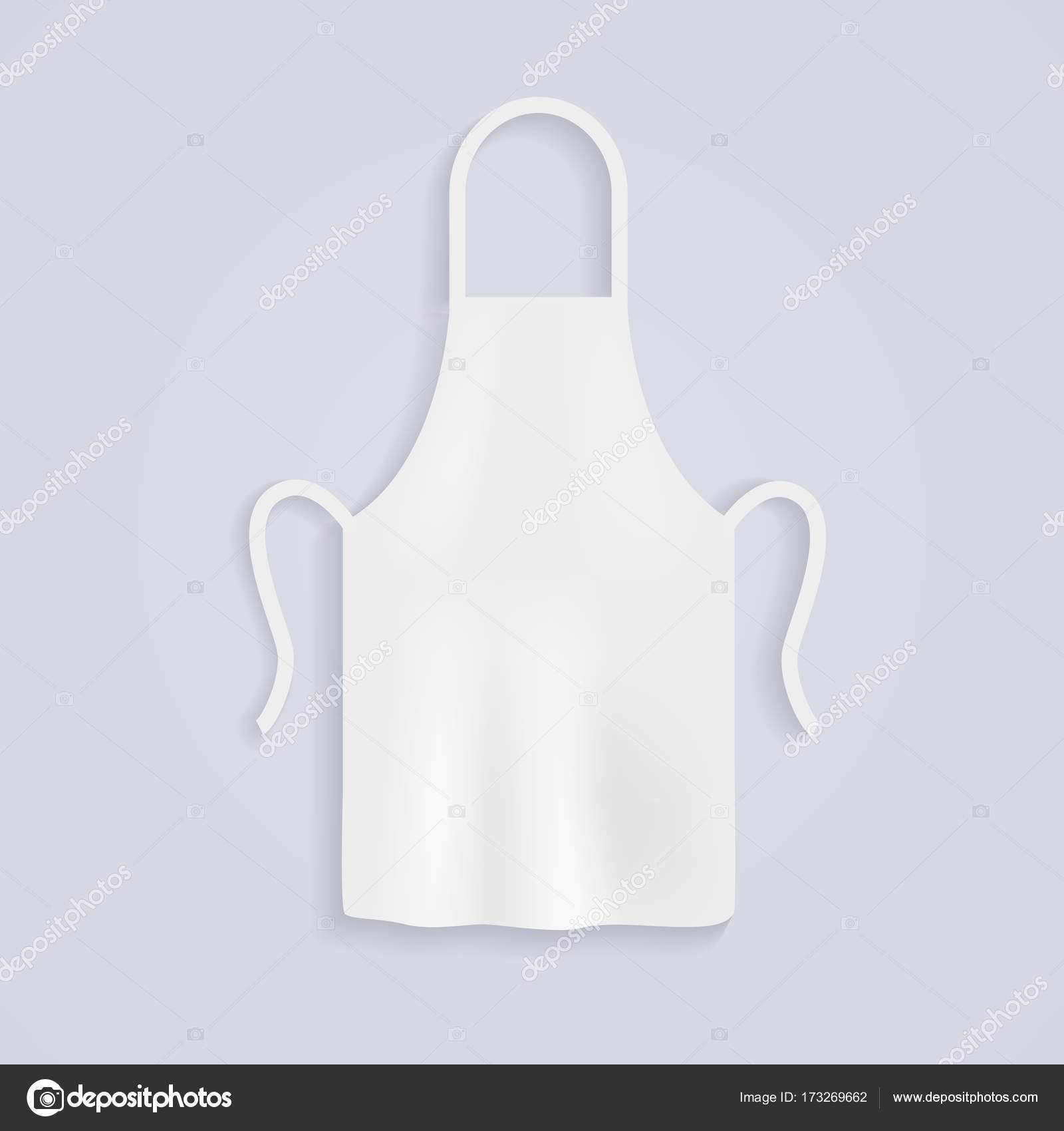 White kitchen apron — Stock Vector © Gapchuk_Olesia #173269662