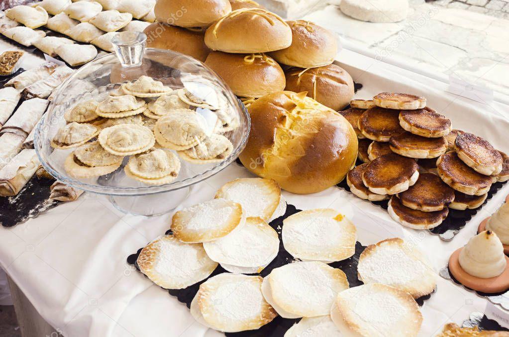Portugiesische Backwaren Brot Geback Und Kuchen Am Markt
