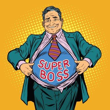 Super boss, a fat man businessman hero