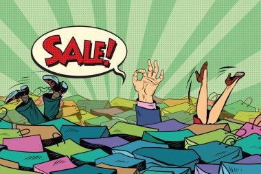 The season of holiday sales. Sea shopping