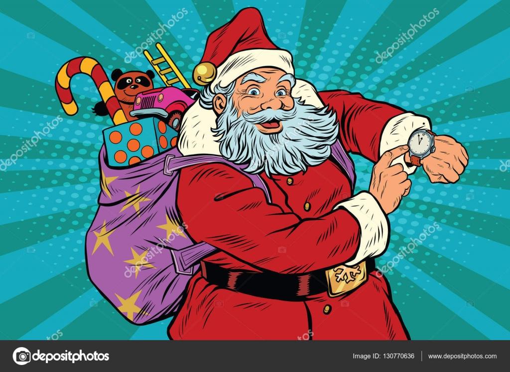 Weihnachtsmann-Shows auf der Uhr, Neujahr und Weihnachten ...