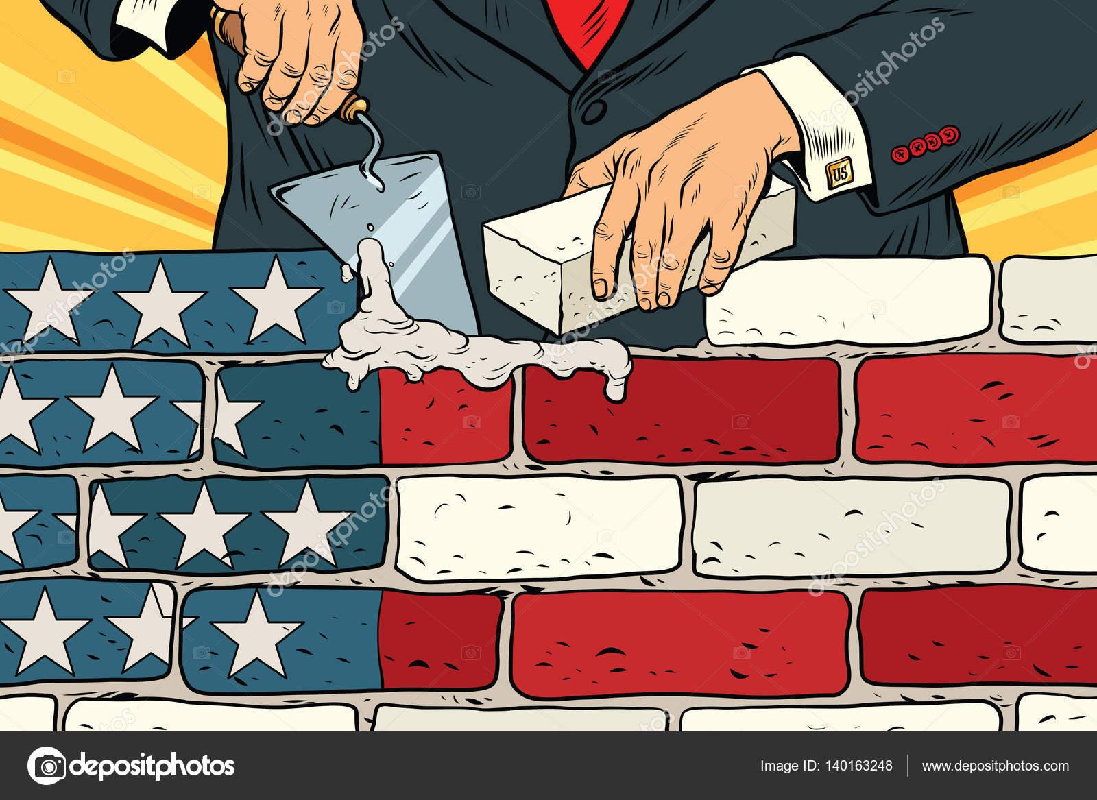 político para construir un muro en la frontera de Estados Unidos ...