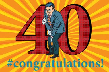 Congratulations 40 anniversary event celebration
