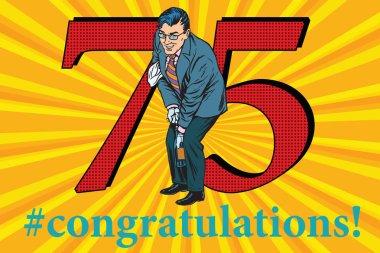 Congratulations 75 anniversary event celebration