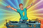 DJ auf einer Club-Party