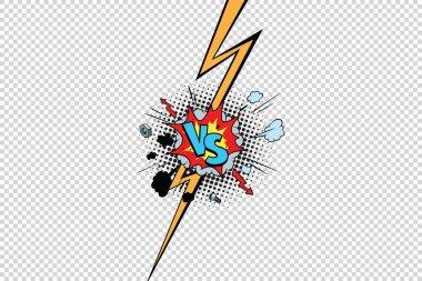 Vs against versus isolate pop art background. Pop art retro vector illustration stock vector